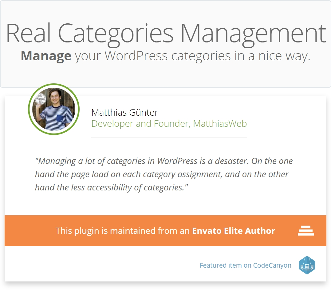 WordPress Real Category Management - Custom category term order / Tree view - 3