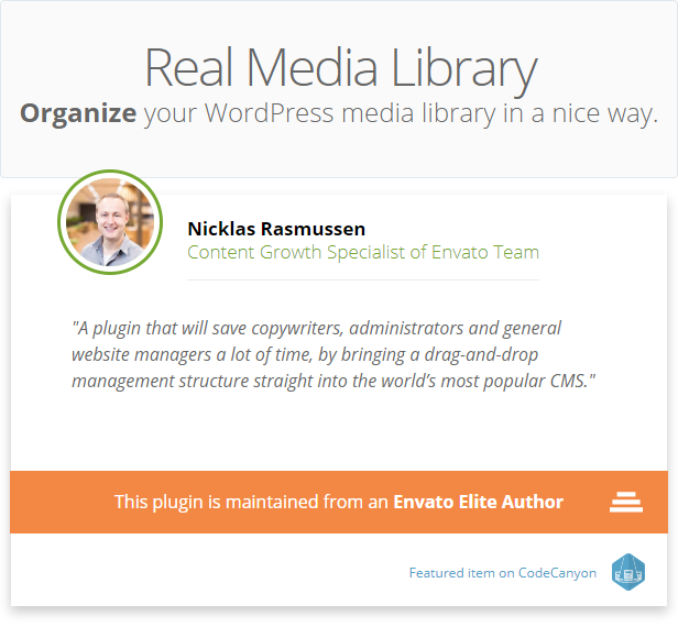 WordPress Real Media Library - Media Categories / Folders File Manager - 4