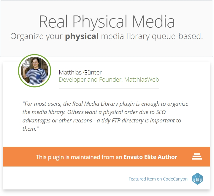WordPress Real Physical Media - Physical Media Library Folders & Seo Rewrites - 4