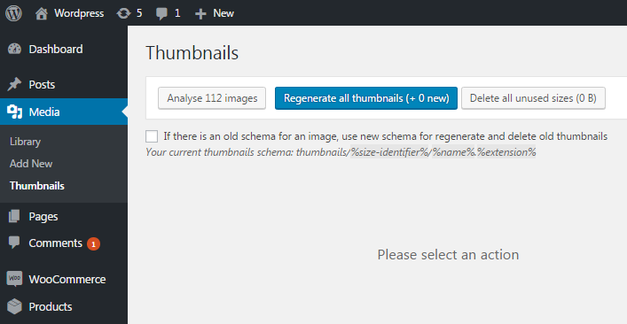 WordPress Real Thumbnail Generator - Bulk Regenerate / Upload folder